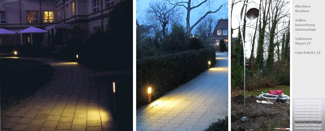 Beleuchtung Hecke   Lichtdesign Handwerktechnikdesign